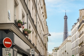 The Eiffel tower from your street